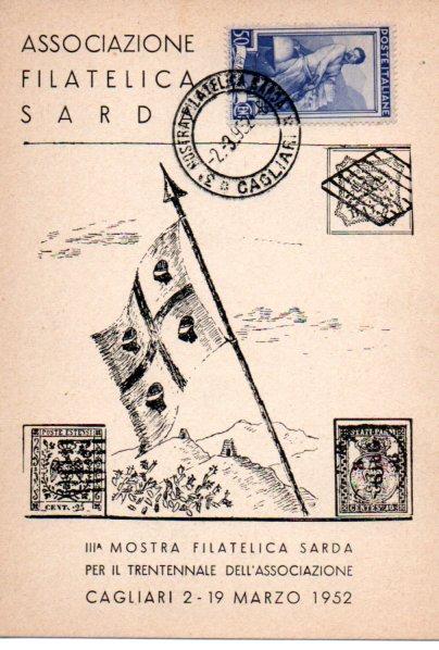 Terza mostra filatelica sarda - 1952