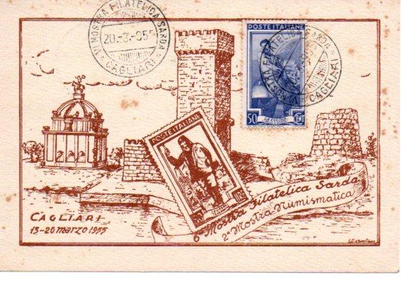 6^ mostra filatelica sarda - 1955