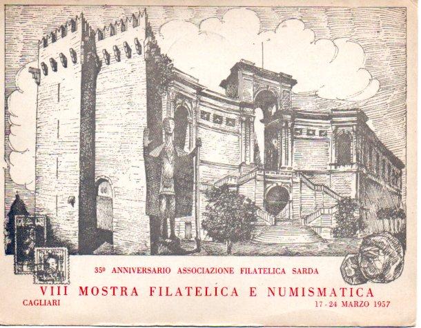 8^ mostra filatelica - 1957