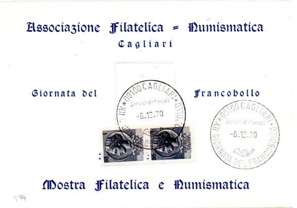 Giornata del francobollo - 1970