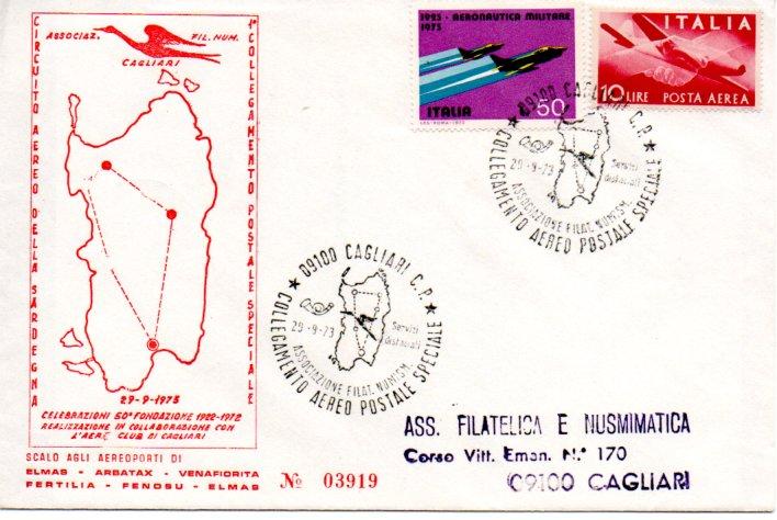 Collegamento aereo postale speciale - 1973