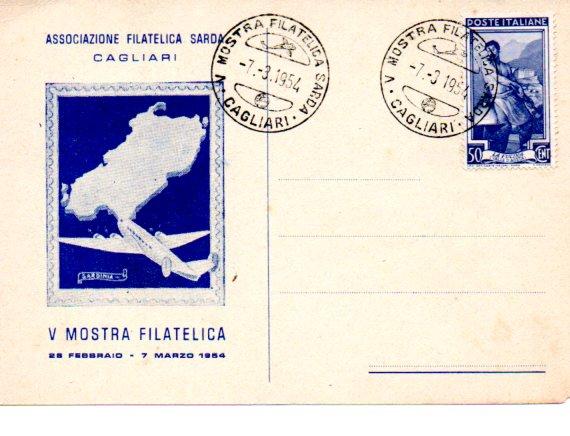 5^ mostra filatelica - 1954