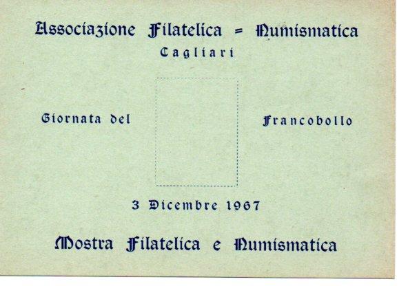 9^ giornata del francobollo - 1967