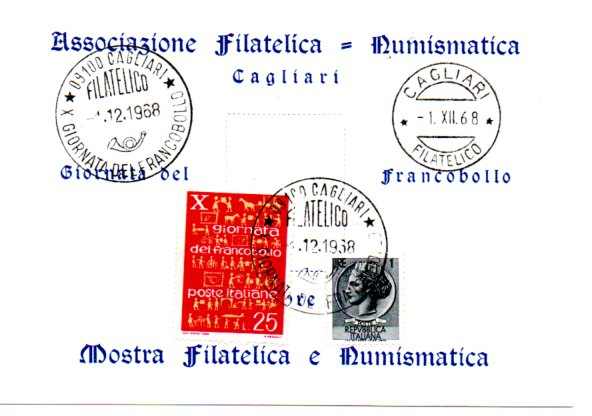 10^ giornata del francobollo - 1968