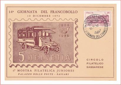 Sassari 14^ giornata del francobollo - 1972