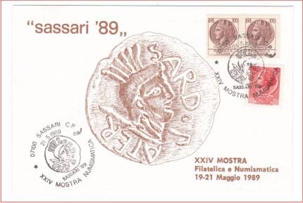 Sassari 24^ mostra filatelica - 1989