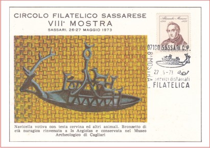 Sassari 8^ mostra filatelica - 1973