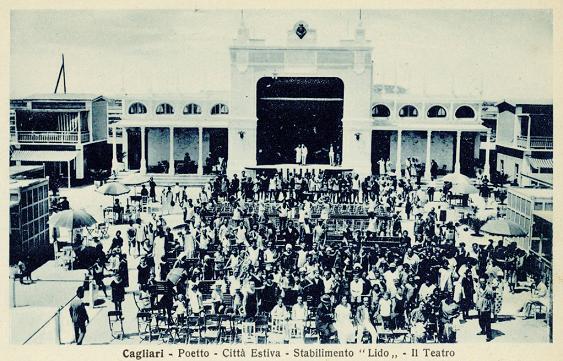 CAGLIARI - IL TEATRO DEL LIDO 1920
