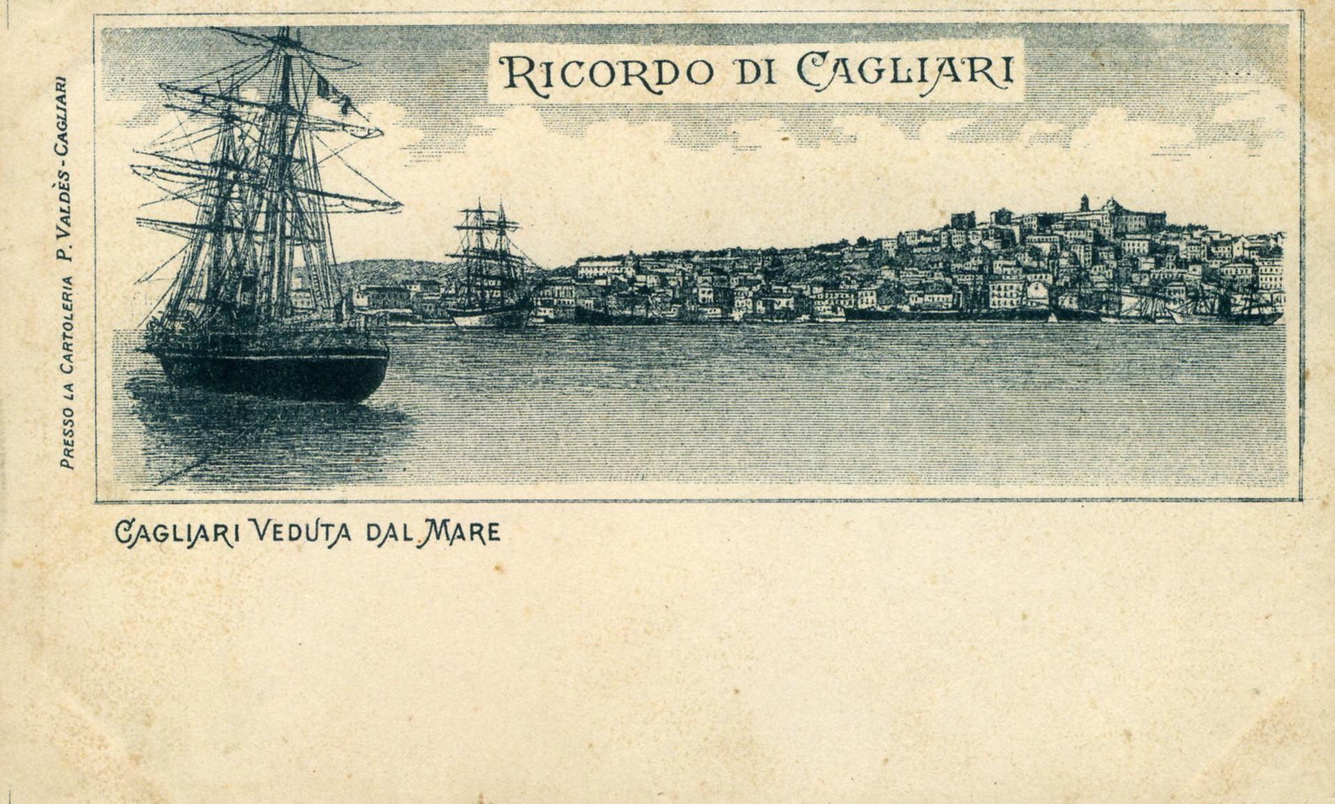 CAGLIARI - Veduta dal mare