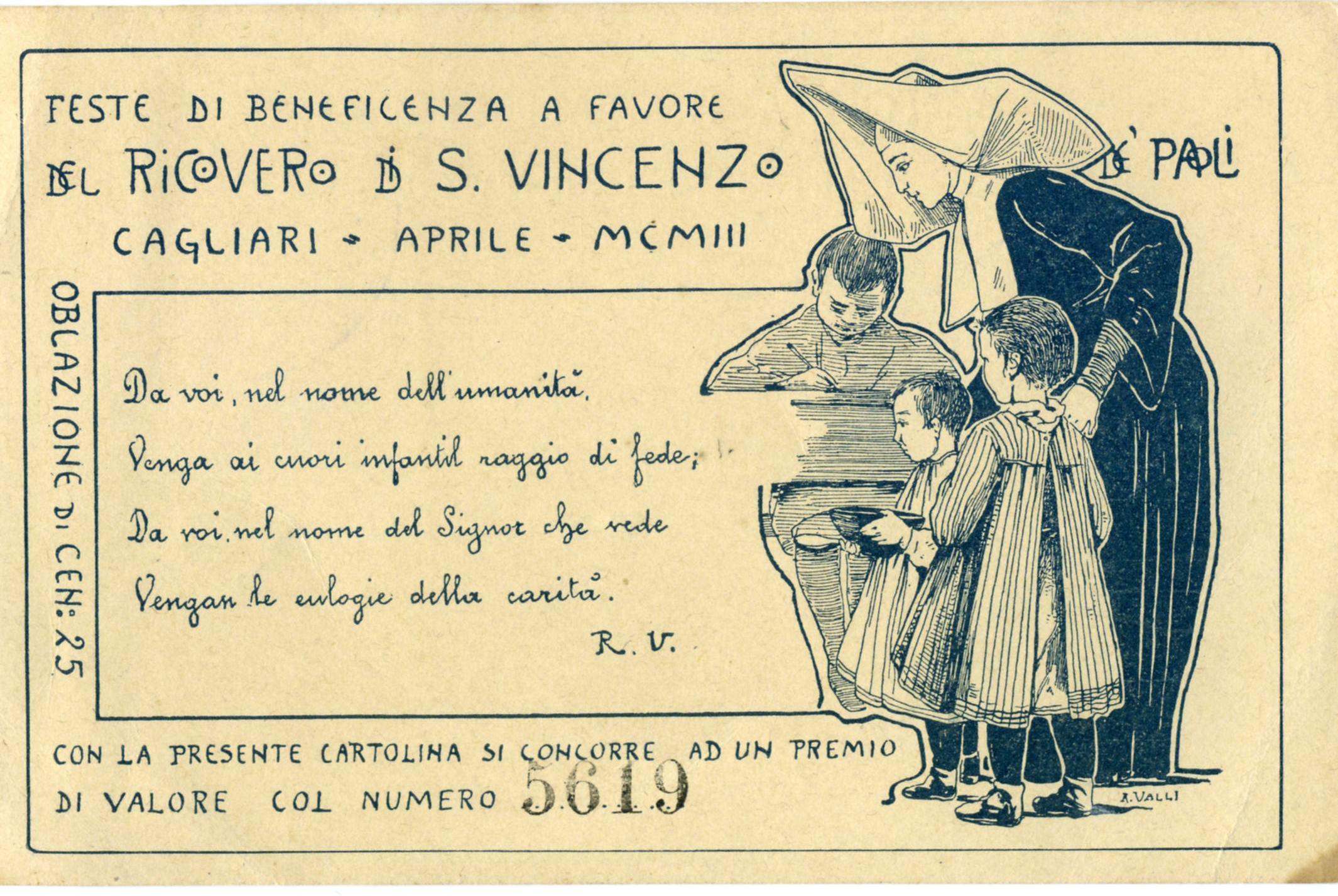 CAGLIARI - Ricovero di S. Vincenzo 1903
